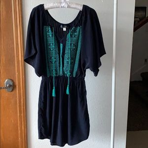 Anthropologie Cinch Waist Flow Dress